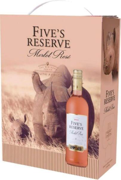 Van Loveren Fives Reserve Merlot Rosé Bag in Box 3 Liter