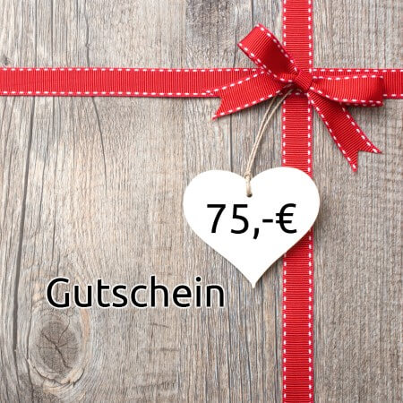 Geschenkgutschein 75,00 Euro